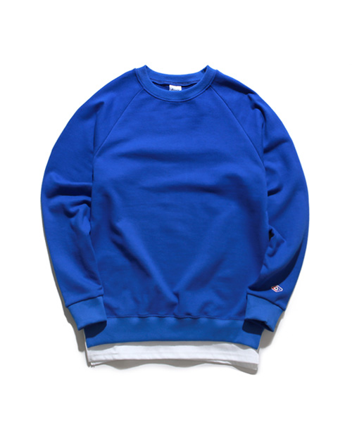 Layered Sweat Shirts Cobalt