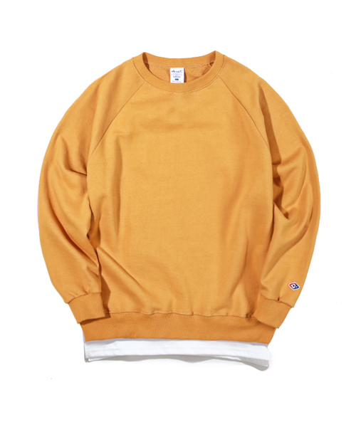 Layered Sweat Shirts Mustard