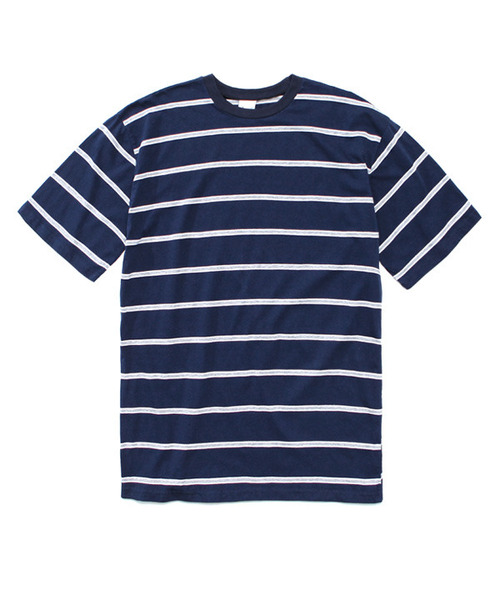 Narrow Stripe 1/2 T-Shirt Navy