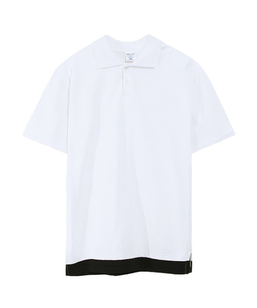 Layered Type Regular Fit PK-Shirt White