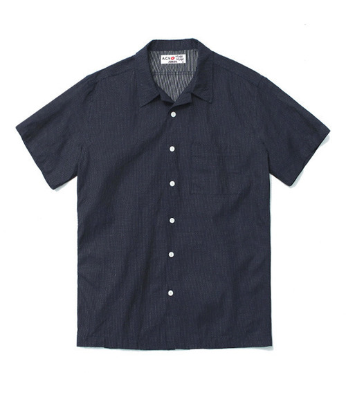 Indigo Dot Half Shirts Navy