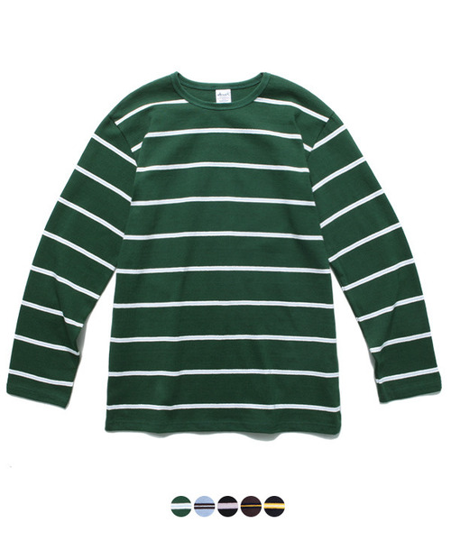 Narrow Stripe Long Sleeve T-Shirt Green