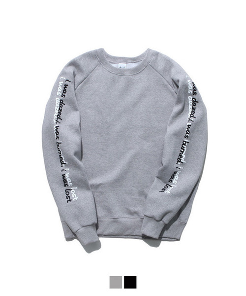 [기모안감] Shadow Lettering Sweat Shirt Gray