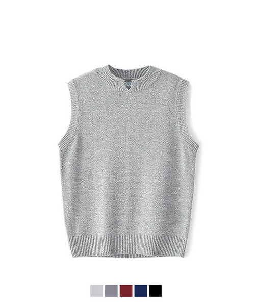 Silt Neck Knit Vest #1