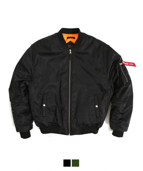 [MA-1 6oz] Shirring Padding Jacket Black
