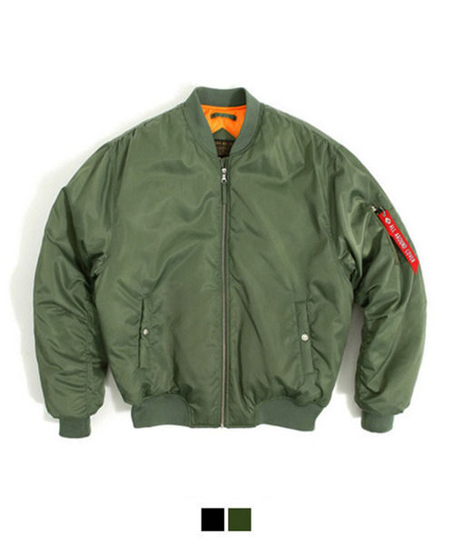 [MA-1 6oz] Shirring Padding Jacket Khaki