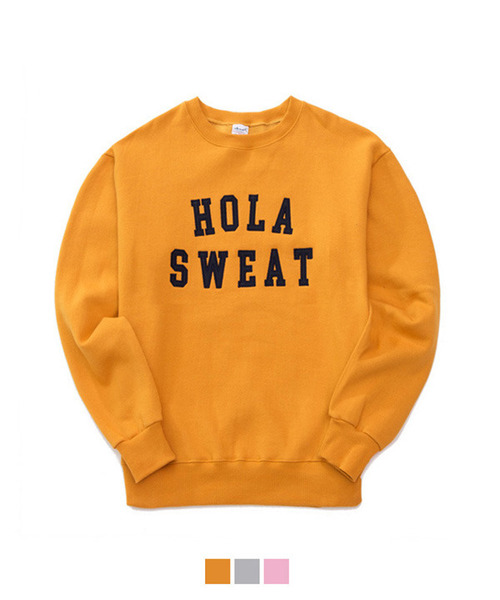 [기모] HOLLA Sweat Shirt Mustard