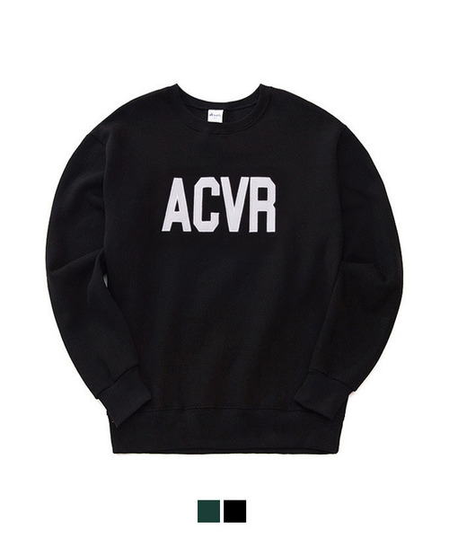 [기모] ACVR Tumble Sweat Shirt Black