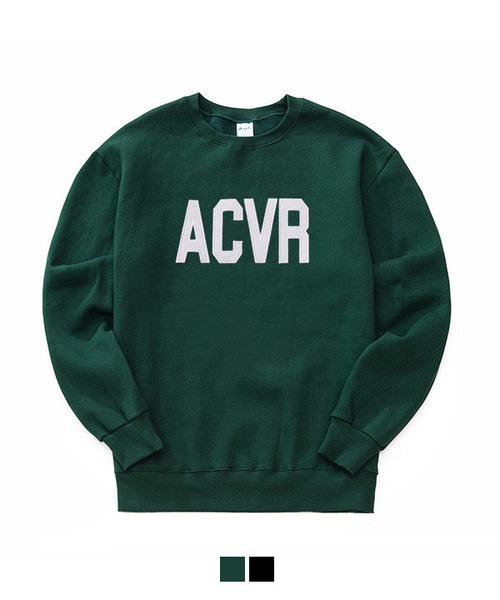 [기모] ACVR Tumble Sweat Shirt Deep Green