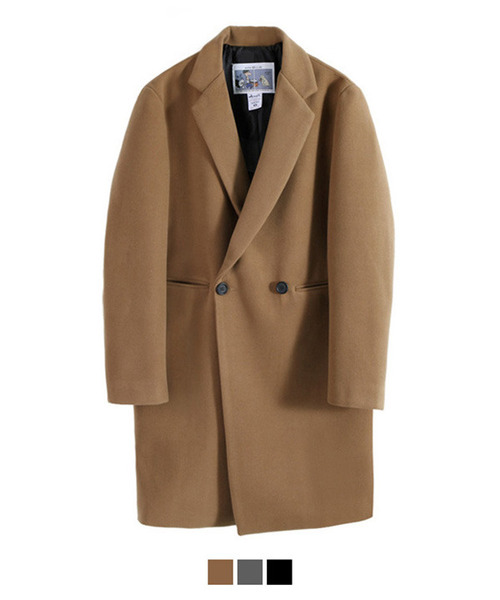 Heavy Line Wool Double Coat Beige