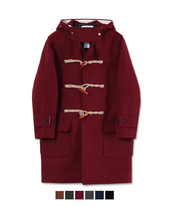Wool Duffle Coat Burgundy