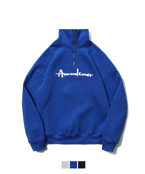 Half Zip Up Sweatshirt Cobalt