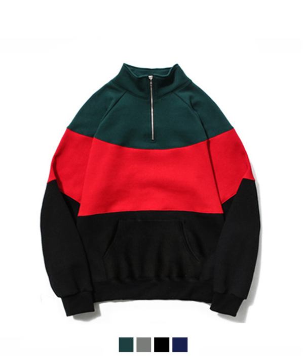 [기모] 90s Half Zip-up Sweat Shirt Green