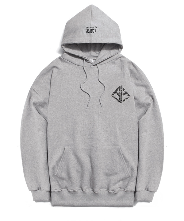 BACK SIDE LETTERING HOODIE GRAY