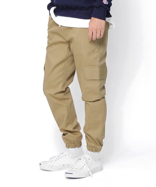Cotton Cargo Regular Pants Beige