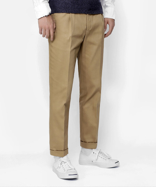 Regular Cotton Pants Beige