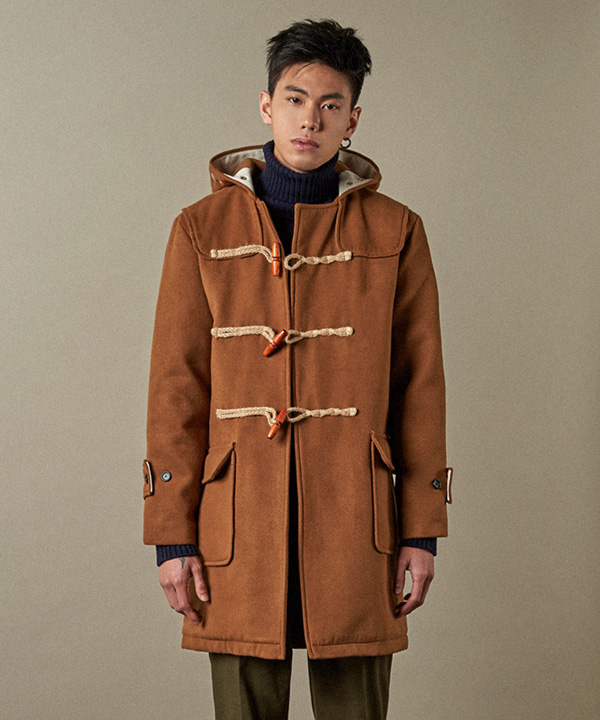 Wool Duffle Coat Beige