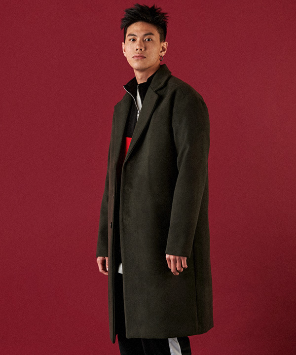 Heavy Line Wool Single Coat Khaki