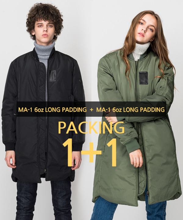 [1+1] [MA-1 6oz] Long Padding Jacket