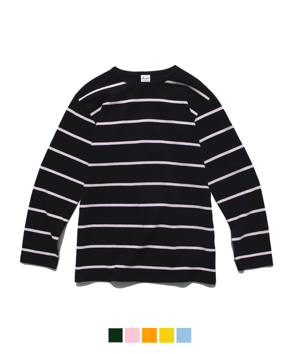 Narrow Stripe Long Sleeve T-Shirt Black/Pink