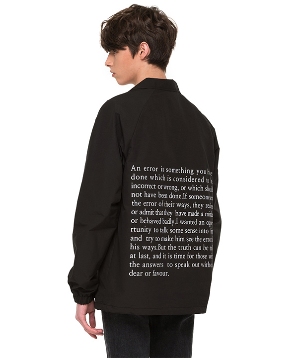 BACK SIDE LETTERING COACH JACKET