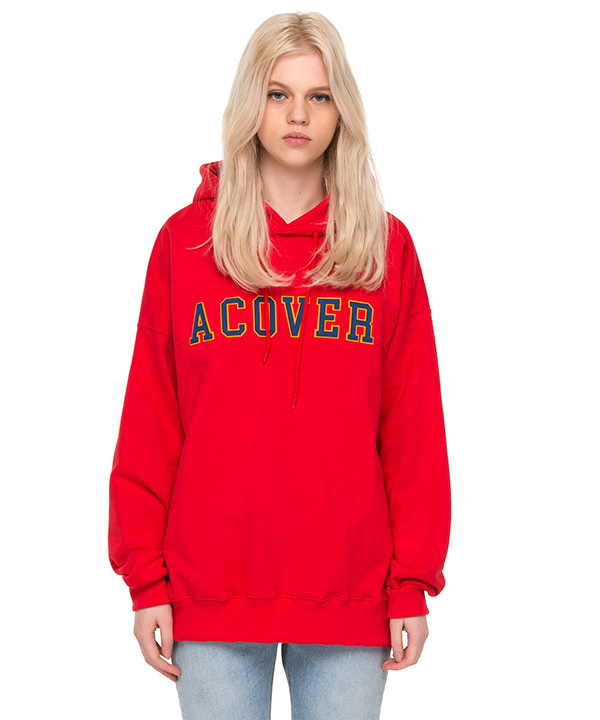 COLLEGE LOGO HOODIE RED
