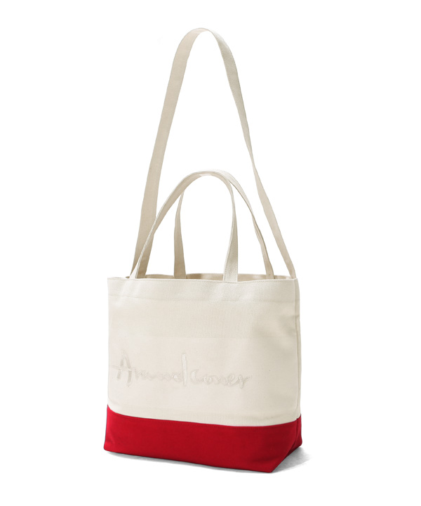 DOUBLE STRAP TOTE BAG RED