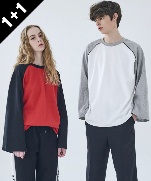 [5월8일예약배송][1+1] RAGLAN SLEEVE T-SHIRT
