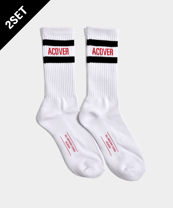 [3월30일 예약발송][2SET]UNISEX ACOVER STRIPE SOCKS