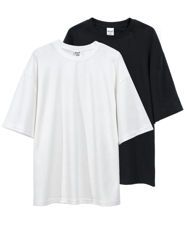 [5월4일예약배송][1+1] 5부 Over Fit Double Cotton T-Shirts