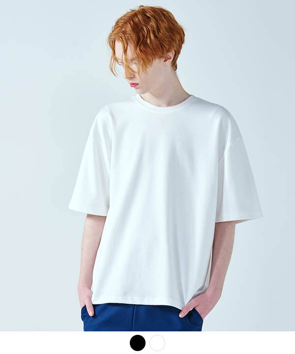 5부 Over Fit Double Cotton T-Shirts