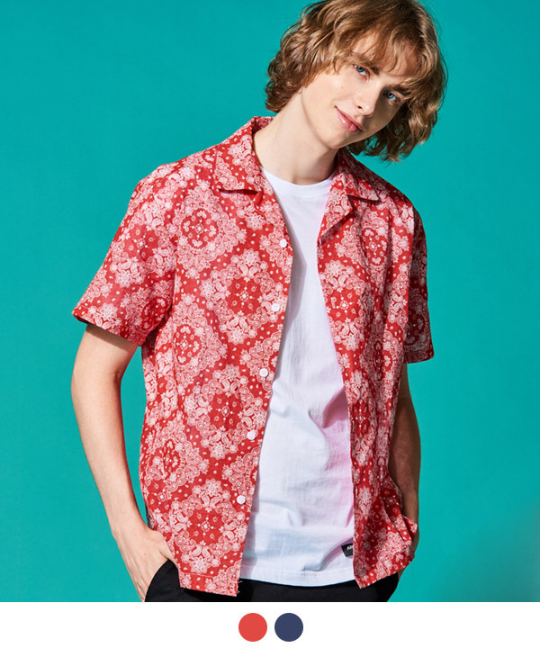 PAISLEY OPEN COLLAR SHIRTS