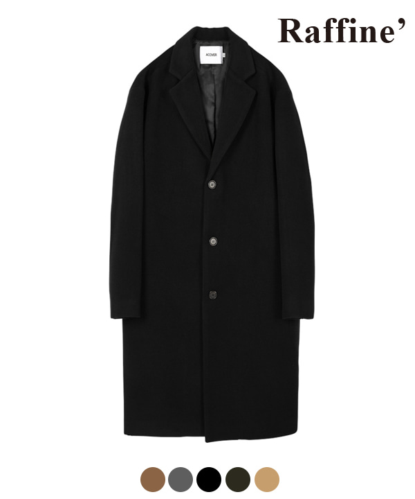 [10월27일예약발송] HEAVY WOOL BLEND SINGLE COAT BLACK