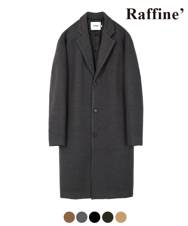 [10월27일 예약발송] HEAVY WOOL BLEND SINGLE COAT CHARCOAL