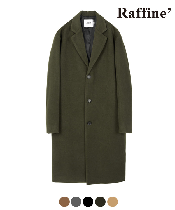 [10월27일 예약발송] HEAVY WOOL BLEND SINGLE COAT KHAKI