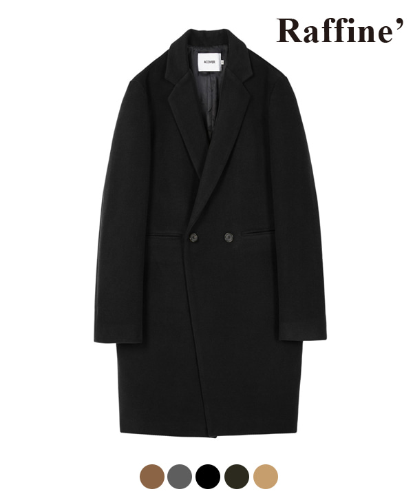 [10월27일 예약발송] HEAVY WOOL BLEND DOUBLE COAT BLACK