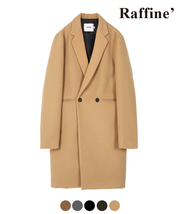 [10월27일 예약발송] HEAVY WOOL BLEND DOUBLE COAT LIGHT BEIGE