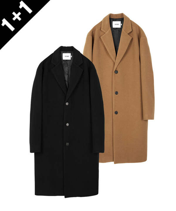 [1+1] HEAVY WOOL BLEND SINGLE COAT