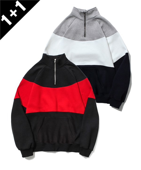 [1+1] 2ND 90s HALF ZIP-UP SWEATSHIRT