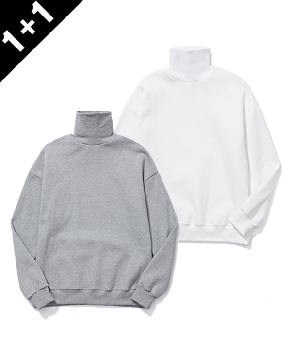 [12월22일 예약발송] [1+1] TURTLENECK SWEATSHIRTS