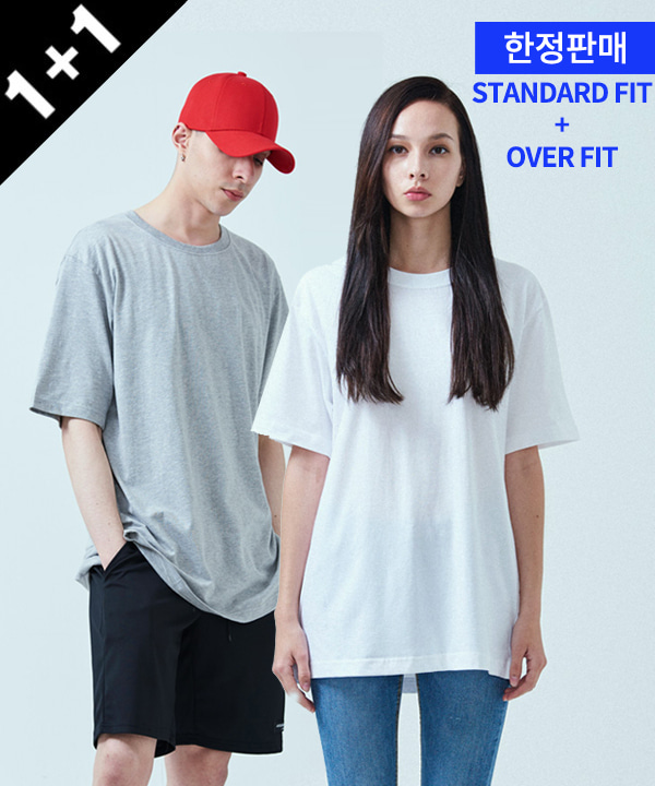 [ACOVER X MUAHMUAH][1+1] COOL BASIC T-SHIRTS + BASIC COOL SIDE-VENT T-SHIRTS