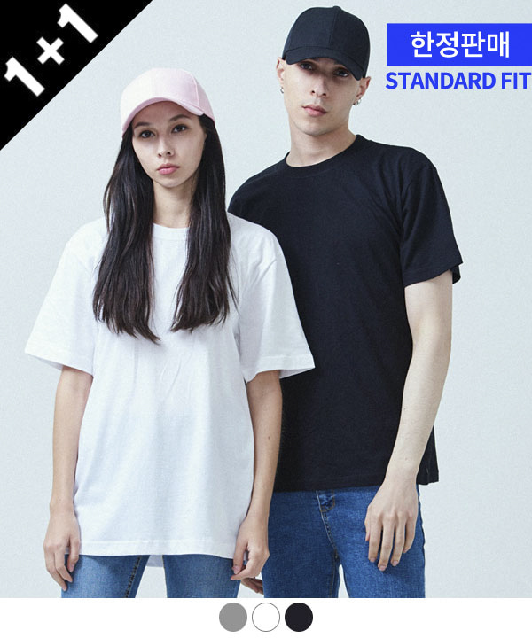 [ACOVER X MUAHMUAH][1+1] COOL BASIC T-SHIRTS