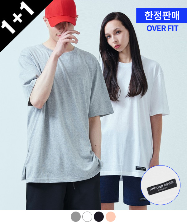 [ACOVER X MUAHMUAH][1+1] PATCH COOL SIDE-VENT T-SHIRTS
